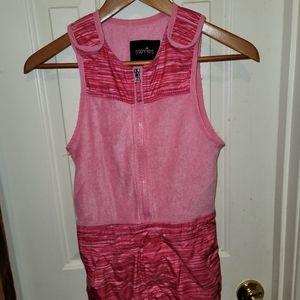 Stevies Girls M pink snowsuit